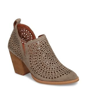Jeffrey Campbell Rosalee Taupe Perforated Booties